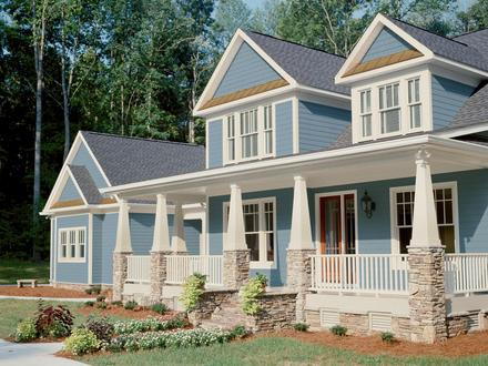 Craftsman Style Homes with Porches Craftsman Style Home Curb Appeal