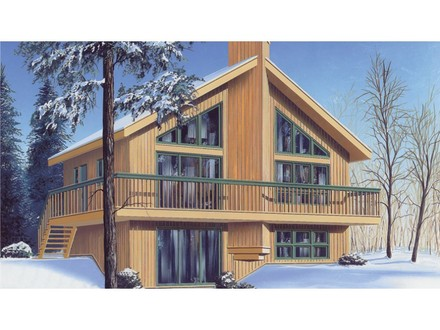 Floor Plan AFLFPW05462 1 Story Home Design with 3 BRs and 2 Baths