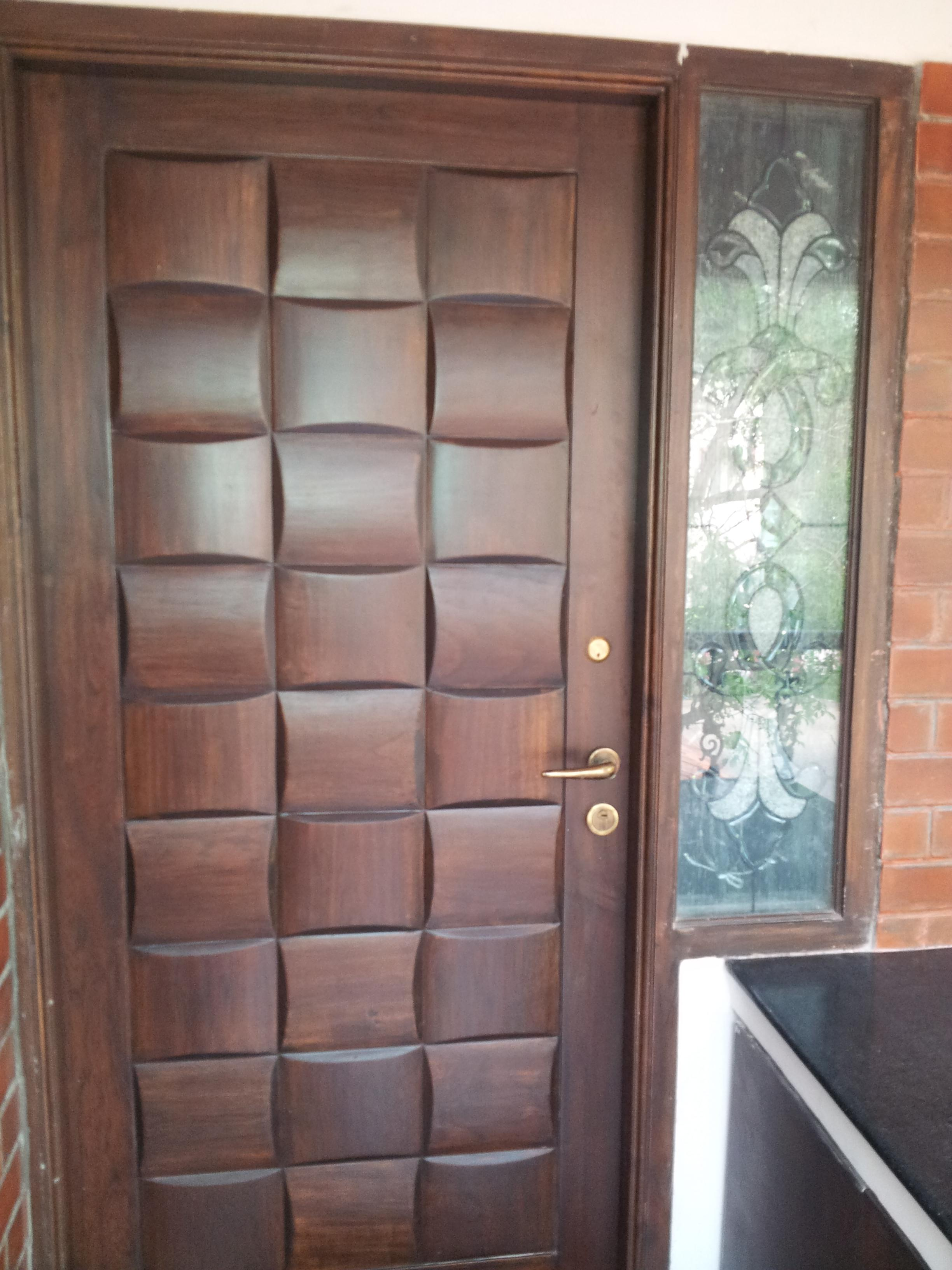 Front door designs wood main door design house design for Wooden main door design catalogue