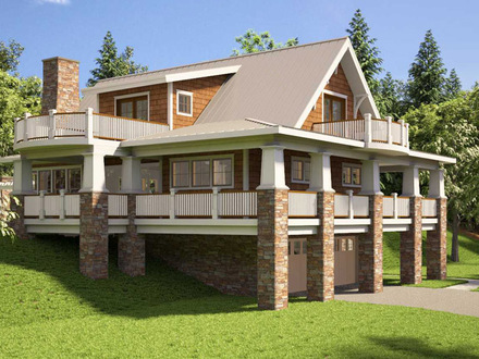 Contemporary single floor house designs kerala single for House plans for rear view lots