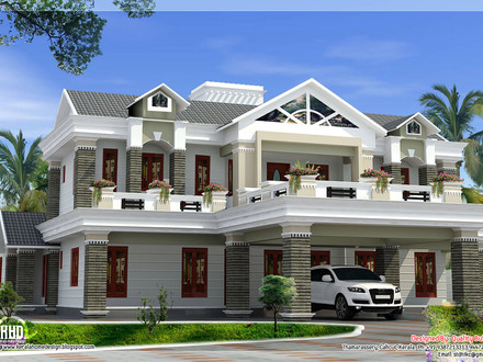 Home Luxury House Design House Plans Flat Roof Designs