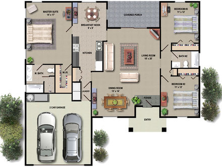 House Floor Plan Design House Floor Plans in Color