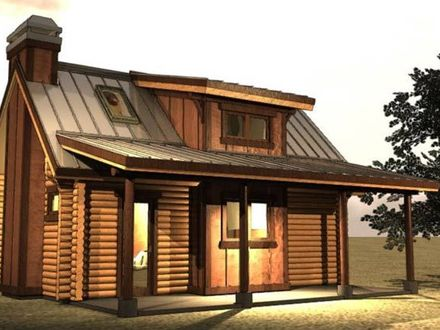 Inside a Small Log Cabins Small Log Cabin with Loft Plans