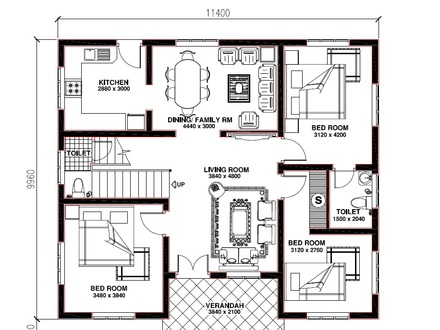 Kerala 3 Bedroom House Plans House Plans Kerala Model Free