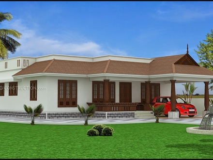 Kerala Single Floor House Design 2014 Modern Tiny House Floor Plans