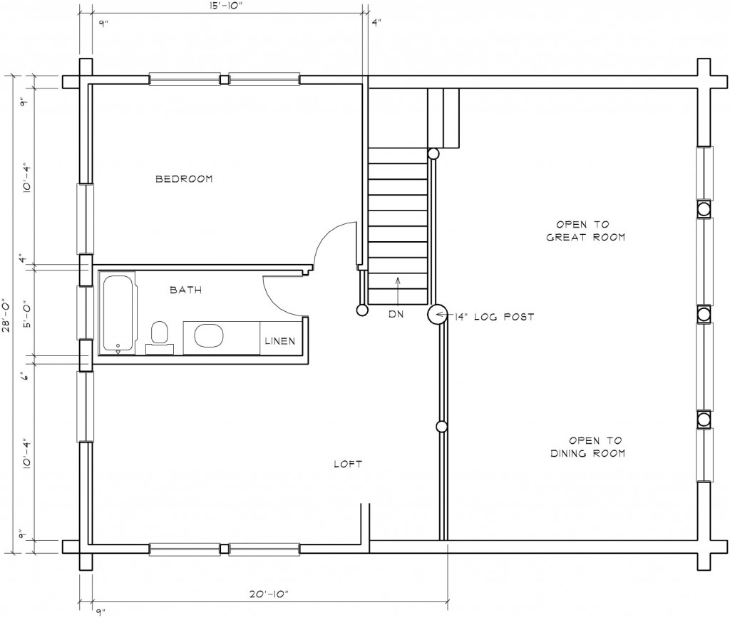 Log cabin floor plans with loft log cabin floor plans with for Log cabin plans with loft