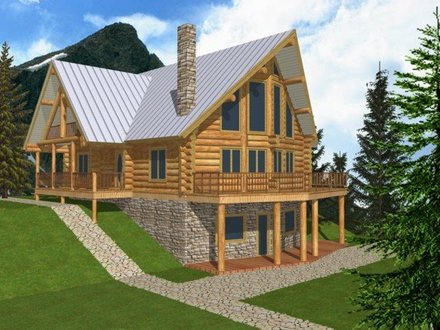 Log Cabin Home Plans with Basement Small Log Cabin House Plans