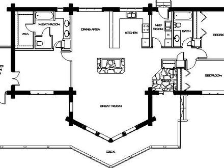 Log Home Floor Plans Log Modular Home Plans