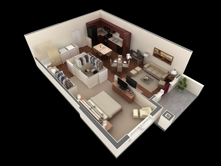 Luxury 1 Bedroom House Plans House Plans 1 Bedroom Apartment