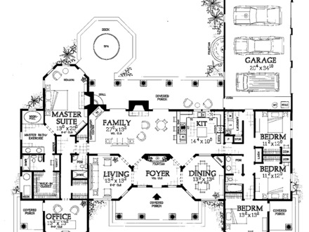 Luxury Mediterranean House Plans One Story Mediterranean House Floor Plans