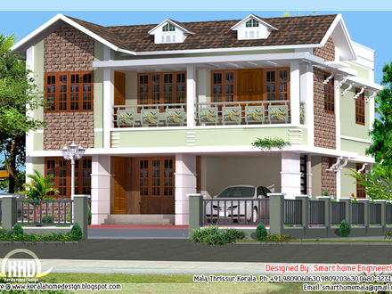 2 bedroom villa plans 2 bedroom duplex plans 3 bedroom for Affordable 4 bedroom house plans