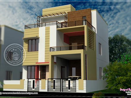 Modern House in America Modern 3 Story House with Floor Plans