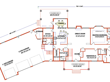Modern Ranch Style Floor Plans Ranch Style Floor Plans with Angled Garage