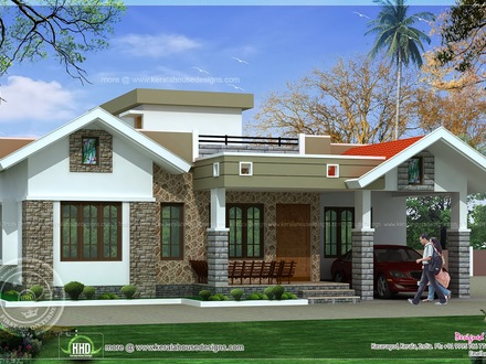Modern Single Floor House Designs Kerala Single Floor House
