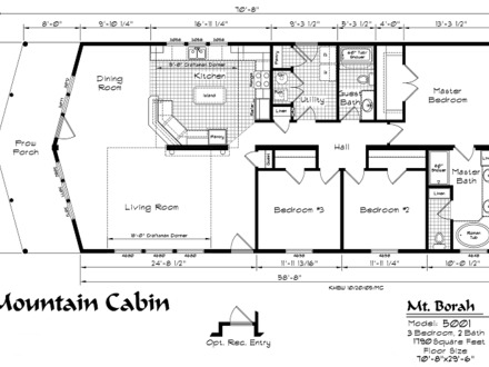 Mountain Cabin Floor Plans Cabin Home Plans