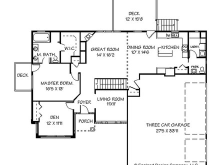 Single story condo floor plans single story with attached for Open concept floor plans 1 story