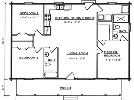 One Story Log Cabin Floor Plans Pre-Built Log Cabins