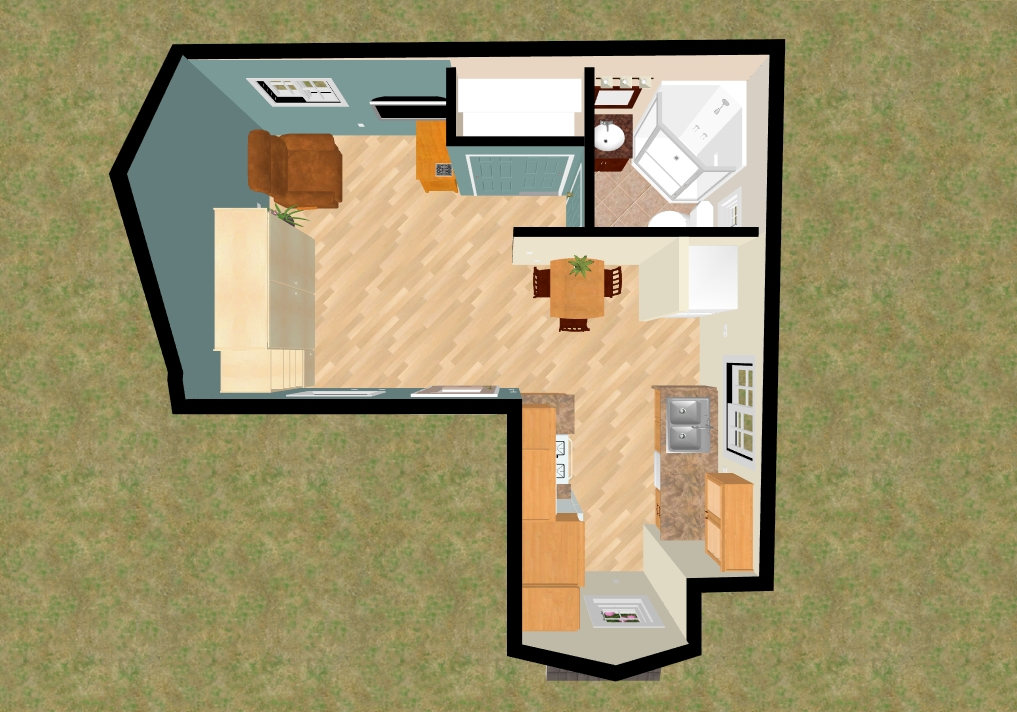 Open floor plans small home small house open floor plan for Tiny house open floor plan