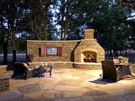Patio Fire Place Outdoor Patios with Fireplaces and TVs