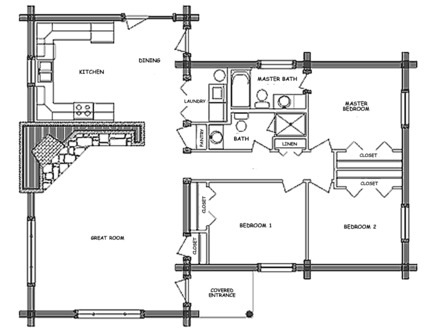 Pioneer Log Home Floor Plans Pioneer Log Home Floor Plans