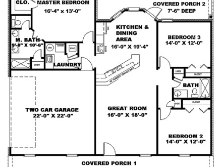 1200 1500 house plans house for 1500 sq ft floor plans for Floor plans 1500 sq ft ranch