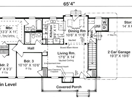 Ranch style house plans with attached garage economical for Economical ranch house plans