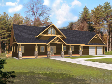 Rustic House Plans with Basement Rustic House Plans with Front Porch