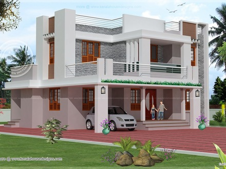 Simple Two- Story House 2 Story House Exterior Design