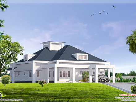 Single Floor Bungalow House Design Single Floor House Plans Large Rooms