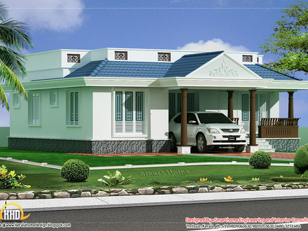 Single Story House Plans with Porches Kerala Single Story House Plans