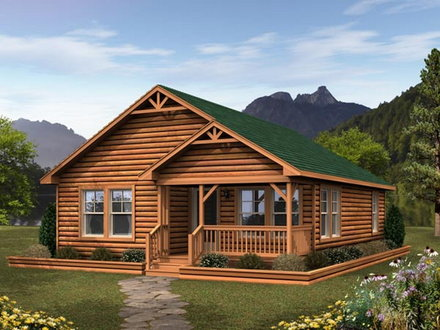 Small Log Cabin Modular Homes Small Manufactured Cabins
