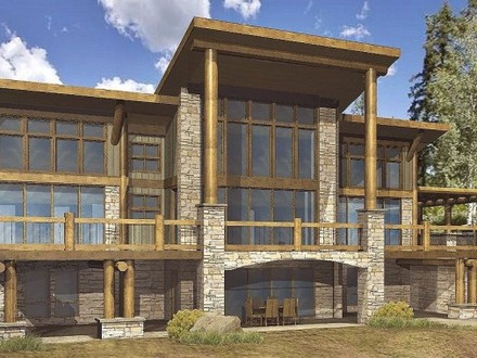 Stone and Timber Homes Hybrid Timber Log Home Plans