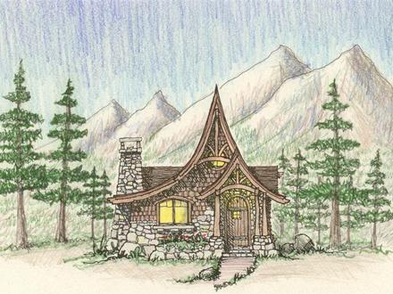Storybook House Painting Storybook Style Cottage House Plans