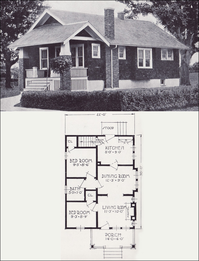The clifton avon in cottage the clifton 1923 standard for Standard home plans