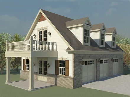 Three Car Garage Plans with Loft 3 Car Garage with Loft