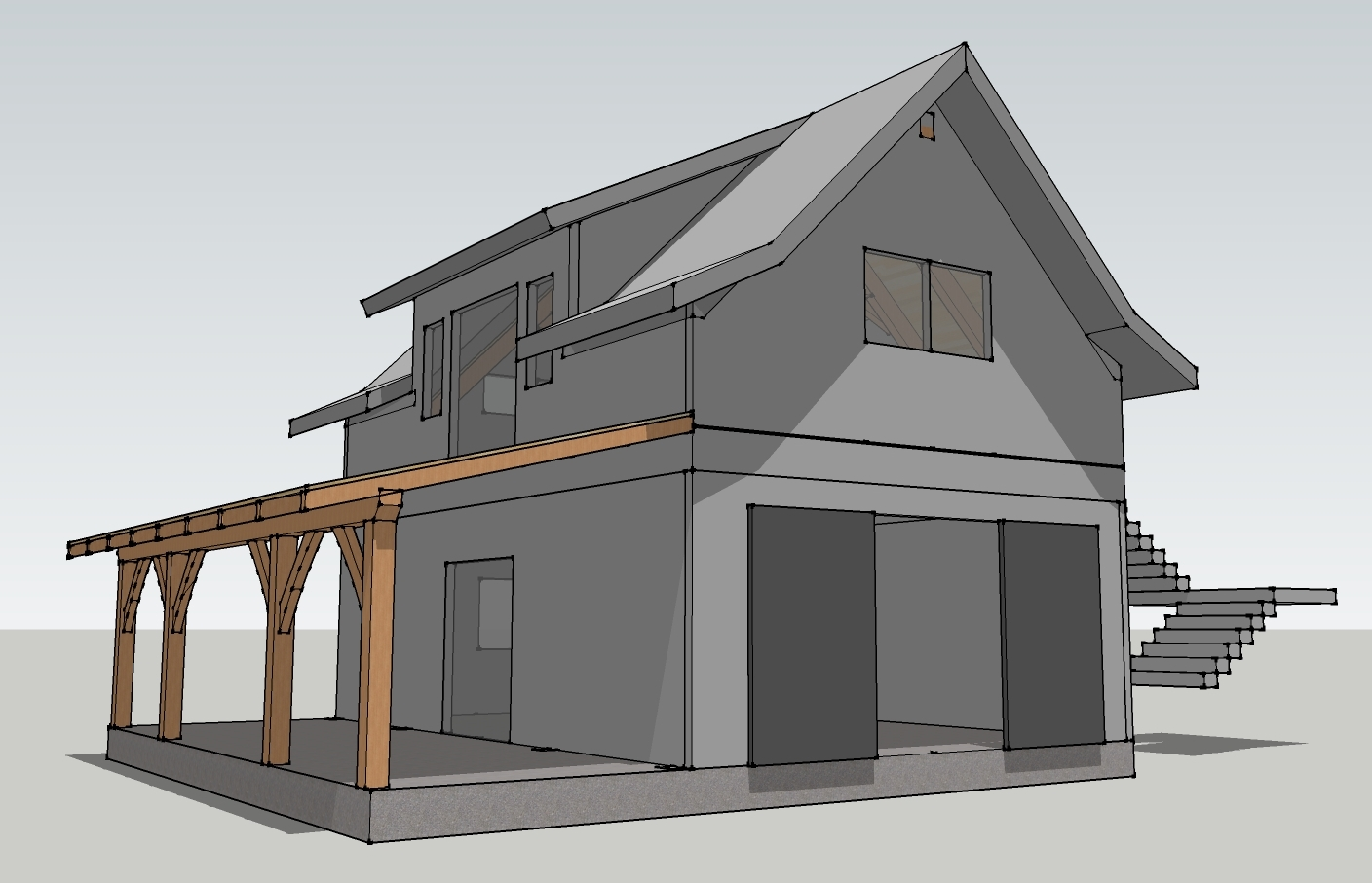 Timber frame garage plans timber frame cabin plans timber for Ranch timber frame plans