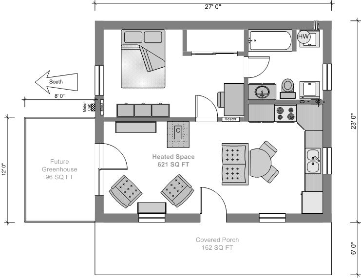 Tiny House Blue Prints Small Tiny House Plans
