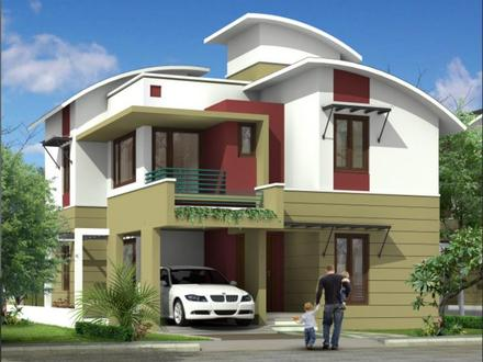 Two-Story Modern House Elevation Designs Front House Elevation Design