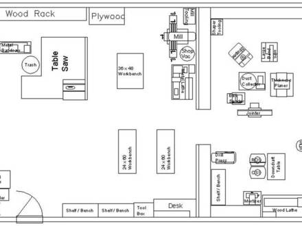 Woodworking Shop Layout Plans 16 X 24 Small Woodworking Shop Layout Plans