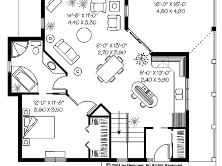 Lake cottage house plans cottage house plans 1100 sq ft for One bedroom home kits