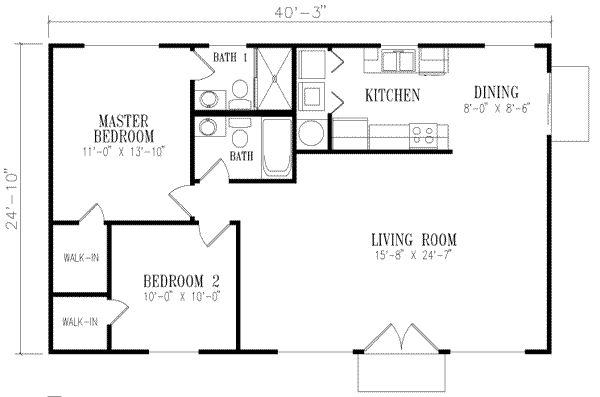 1000 Square Foot House Plans 1 Bedroom 900 Square Foot House