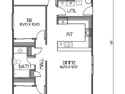 1200 Sq Foot House Floor Plan 1200 Sq Ft. House Plans 2 Bedrooms 2 Baths