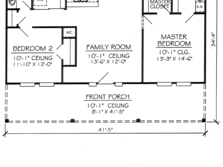 2 Bedroom 1 Bathroom Apartment 2 Bedroom 1 Bathroom House Plans