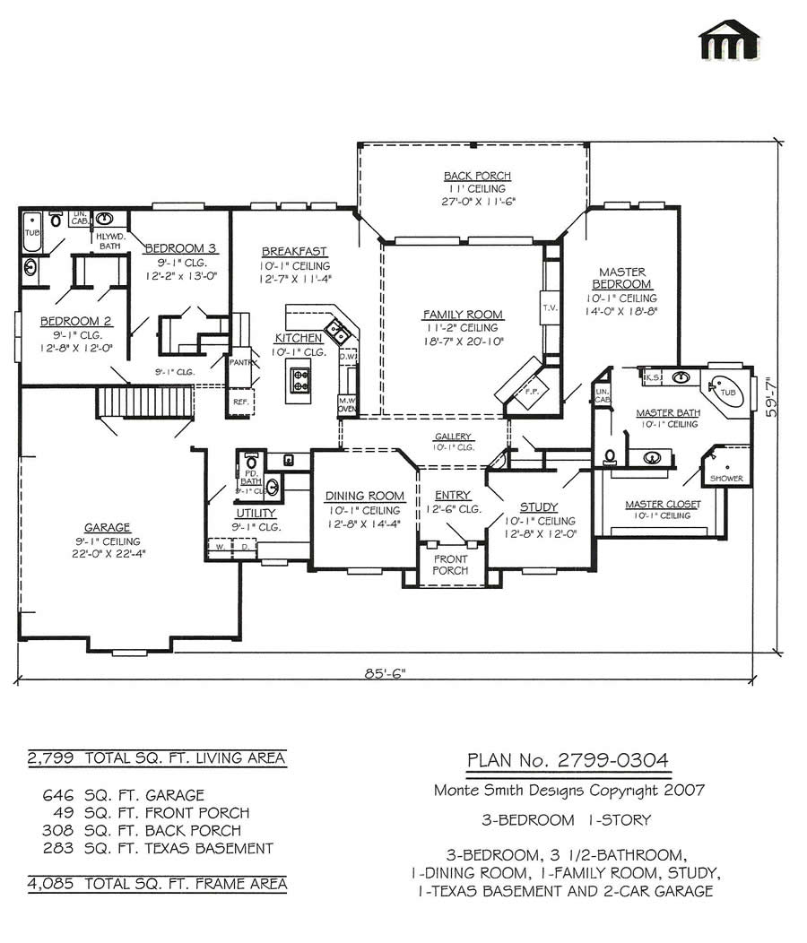 2 Story House Floor Plans With Basement 2 Floor Houses