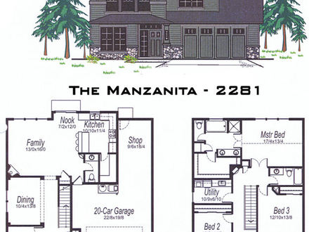 2500 Sq FT Square House Plans 2500 Sq FT 3-Bedroom Open Floor Plan Layout