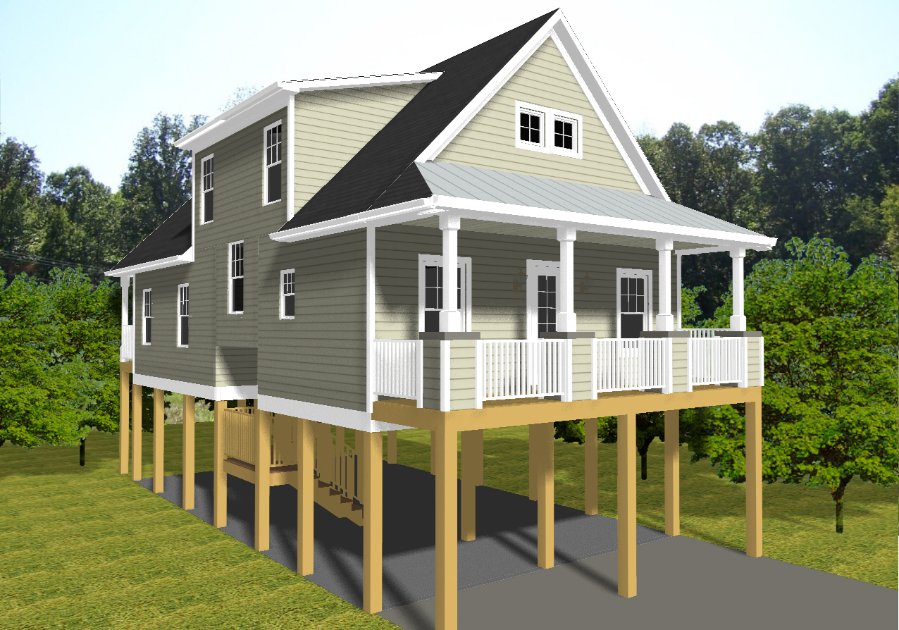 Beach cottage house plans on pilings luxury beach house for Beach cabin house plans