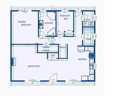 Blueprint House Sample Floor Plan Blueprints for Houses with Open Floor Plans