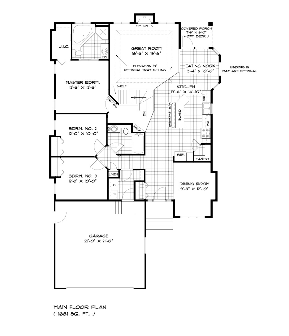 Bungalow house floor plans bungalow house plans with for Cabover house plans