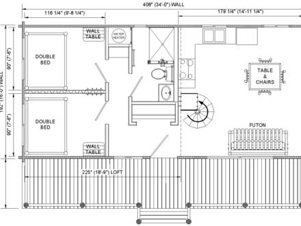 Cabin Floor Plans with Loft Cabin Floor Plans with Loft