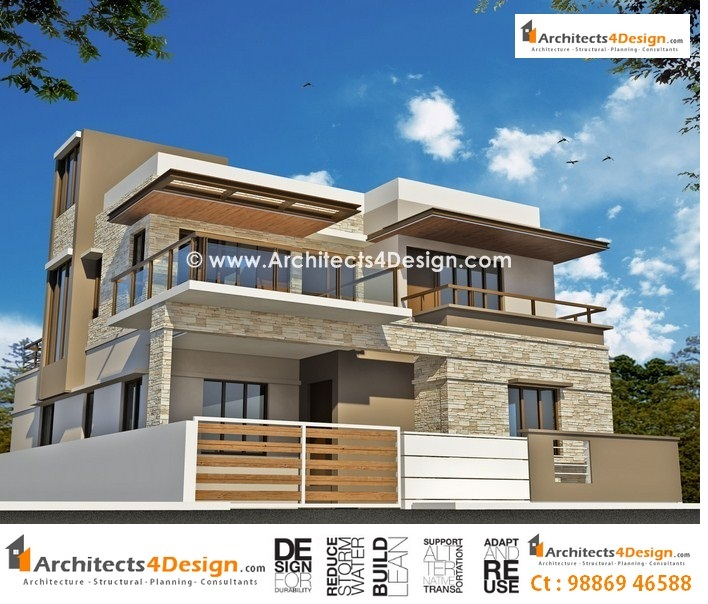 Front Elevation Of Houses In Autocad : Cad house elevation drawings front design